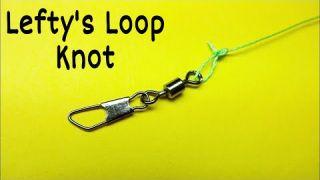 Как привязать вертлюжок к леске узел Lefty's Loop. Лайфхаки и самоделки для рыбалки. Рыбалка 2021